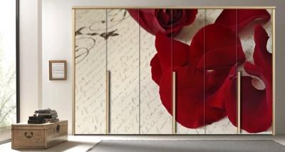 Πέταλα από σκούρο κόκκινο τριαντάφυλλο, Διάφορα, Αυτοκόλλητα ντουλάπας