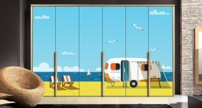 Tροχόσπιτο στην παραλία