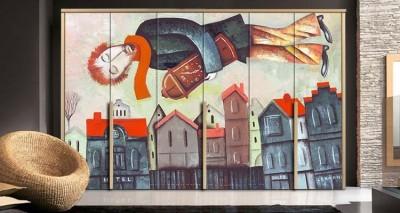 Άντρας που κρατά ένα ρολόι, Ζωγραφική, Αυτοκόλλητα ντουλάπας