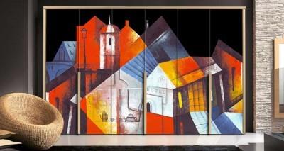 Κομμάτι πόλης, Ζωγραφική, Αυτοκόλλητα ντουλάπας
