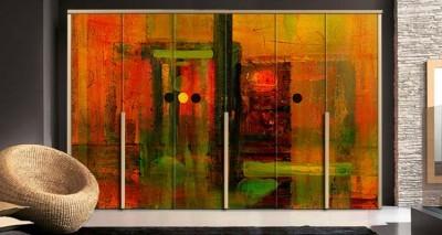 Αφηρημένη ζωγραφική, Ζωγραφική, Αυτοκόλλητα ντουλάπας