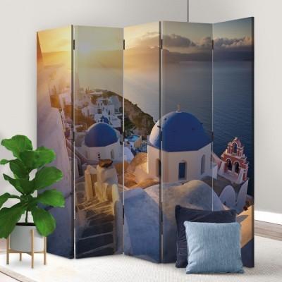 Ηλιοβασίλεμα στην Οία, Σαντορίνη, Ελλάδα - Διακοπές, Παραβάν