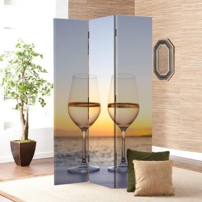 Κρασί, Ηλιοβασίλεμα και Θάλασσα, Φαγητό & Ποτό, Παραβάν