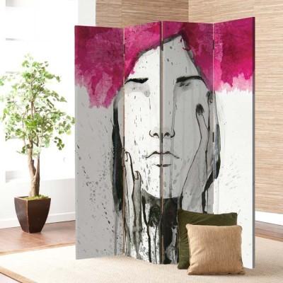 Πορτρέτο κοπέλας, Ζωγραφική, Παραβάν