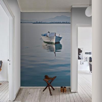 Ελληνική βάρκα Ελλάδα Ταπετσαρίες Τοίχου 100 x 100 εκ.