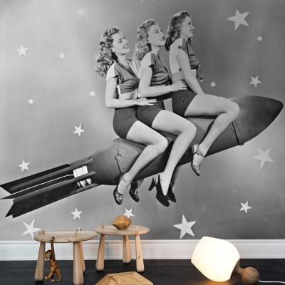 Κορίτσια σε πύραυλο, Άνθρωποι, Ταπετσαρίες Τοίχου