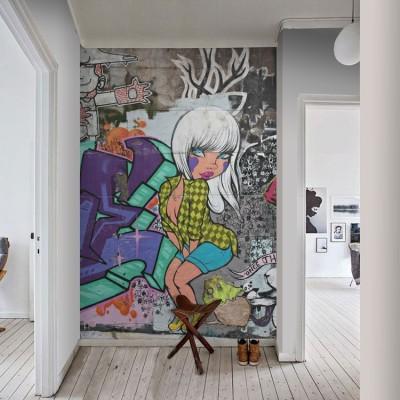 Τέχνη στο δρόμο Φόντο - Τοίχοι Ταπετσαρίες Τοίχου 100 x 100 εκ.