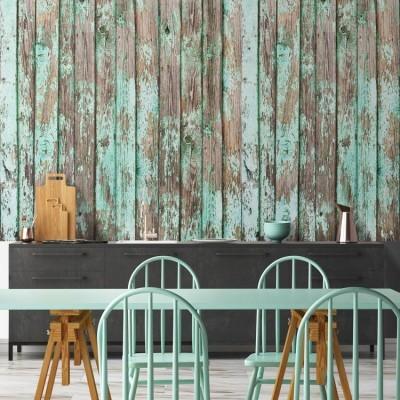 Ξύλινες σανίδες Φόντο - Τοίχοι Ταπετσαρίες Τοίχου 100 x 100 cm