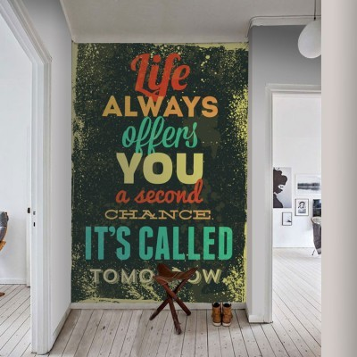 life Φράσεις Ταπετσαρίες Τοίχου 119 x 80 cm