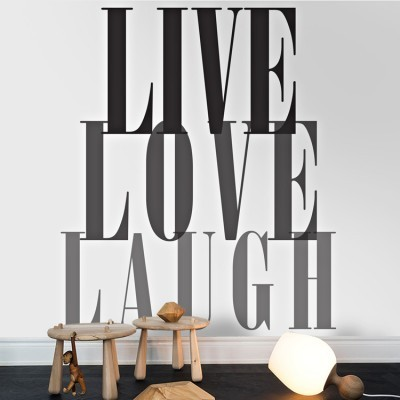 Live,Love,Laugh, Φράσεις, Ταπετσαρίες Τοίχου