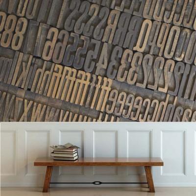 Τυπογραφικά στοιχεία Φράσεις Ταπετσαρίες Τοίχου 80 x 120 cm