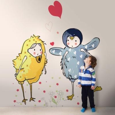 Παιδάκια ντυμένα ζωάκια Παιδικά Ταπετσαρίες Τοίχου 100 x 100 εκ.