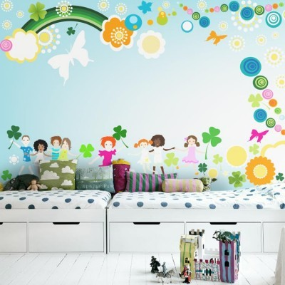 Τα παιδιά στο παιχνίδι Παιδικά Ταπετσαρίες Τοίχου 100 x 100 εκ.