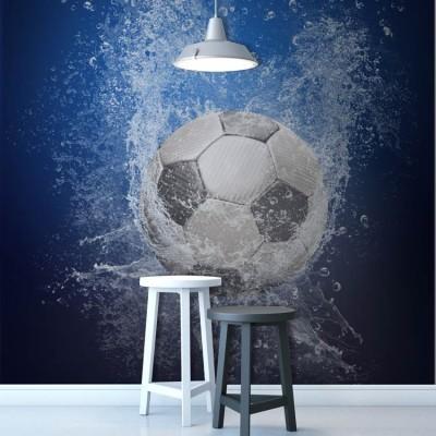 Νερό σε μπάλα ποδοσφαίρου Σπορ Ταπετσαρίες Τοίχου 100 x 100 cm