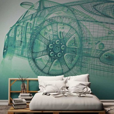 3d διάγραμμα αυτοκίνητου, Τεχνολογία - 3D, Ταπετσαρίες Τοίχου