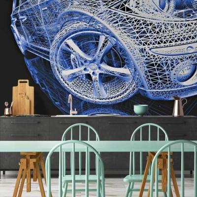 3d μοντέλο αυτοκίνητου, Τεχνολογία - 3D, Ταπετσαρίες Τοίχου