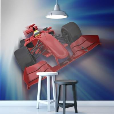 3D αυτοκίνητο της φόρμουλα 1, Τεχνολογία - 3D, Ταπετσαρίες Τοίχου