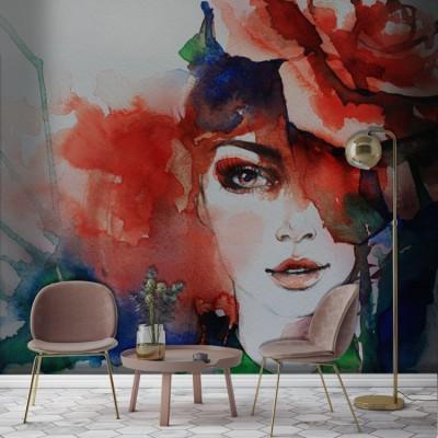 Ζωγραφιά Κοπέλας, Ζωγραφική, Ταπετσαρίες Τοίχου